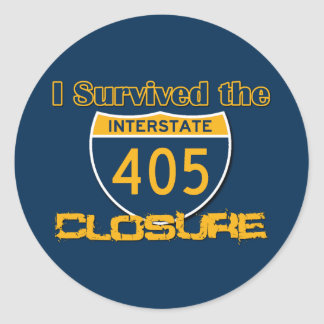 I Survived the 405 Closure Classic Round Sticker