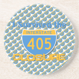 I Survived the 405 Closure Drink Coaster