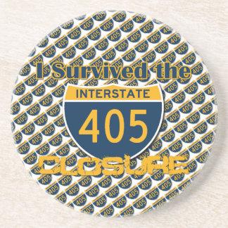 I Survived the 405 Closure Beverage Coaster