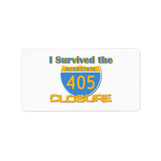 I Survived the 405 Closure Label