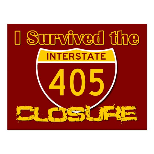 I Survived the 405 Closure Postcard
