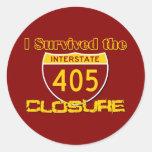 I Survived the 405 Closure Round Sticker