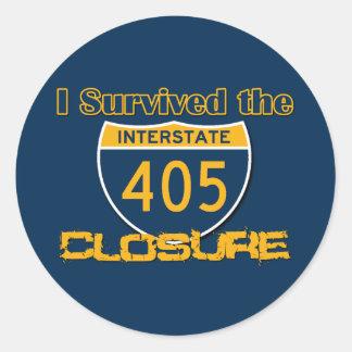 I Survived the 405 Closure Classic Round Sticker