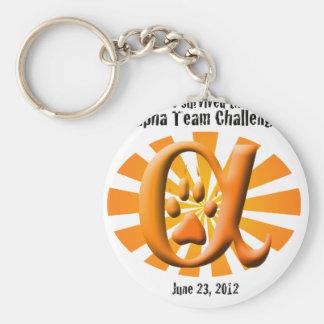 I survived the Alpha Team Challenge Basic Round Button Keychain