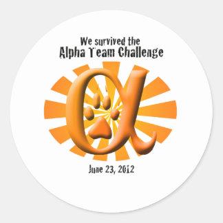 I survived the Alpha Team Challenge Classic Round Sticker