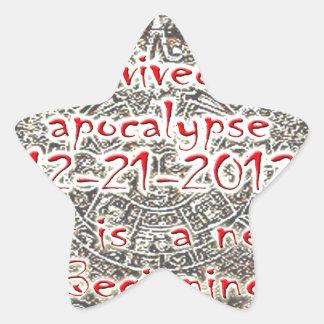 I survived the Apocalypse 12-21-2012 Star Sticker