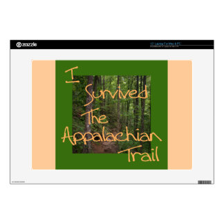 "I Survived The Appalachian Trail yellow Decal For 15"" Laptop"