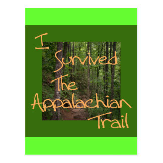 I Survived The Appalachian Trail yellow Post Cards