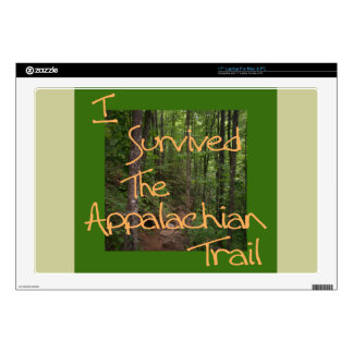 "I Survived The Appalachian Trail yellow Skins For 17"" Laptops"