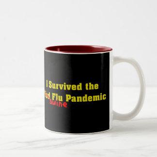 I Survived The Bird er Swine Flu Pandemic Two-Tone Coffee Mug
