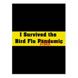 I Survived The Bird Flu Pandemic Postcard