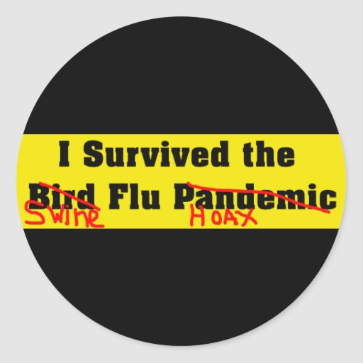 I Survived The Bird Flu Pandemic Round Stickers