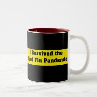 I Survived The Bird Flu Pandemic Two-Tone Coffee Mug