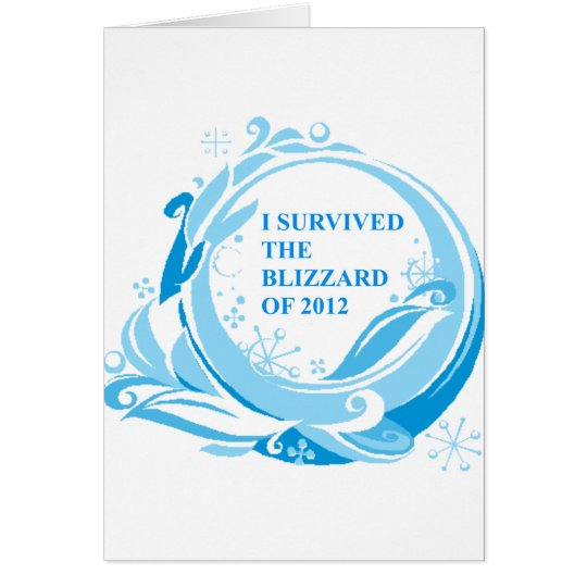 I survived the blizzard of 2012 card