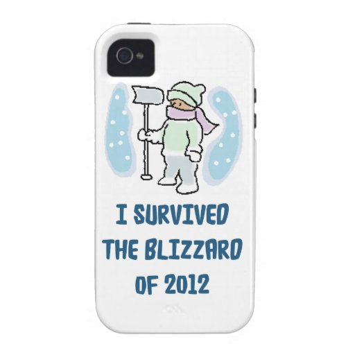 I survived the blizzard of 2012 vibe iPhone 4 cover