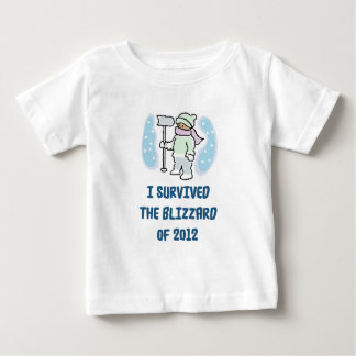 I survived the blizzard of 2012 t-shirts