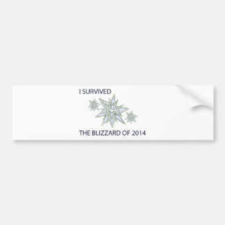 I survived the blizzard of 2014 crystal snowflakes bumper sticker