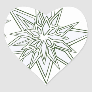 I survived the blizzard of 2014 crystal snowflakes heart sticker