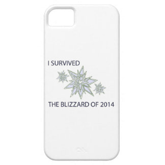 I survived the blizzard of 2014 crystal snowflakes iPhone SE/5/5s case