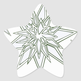 I survived the blizzard of 2014 crystal snowflakes star sticker