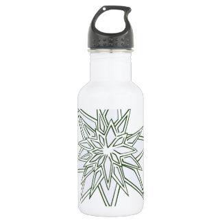 I survived the blizzard of 2014 crystal snowflakes water bottle