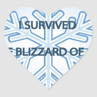 I survived the blizzard of 2014 snowflake heart sticker