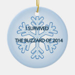 I survived the blizzard of 2014 snowflake ornaments