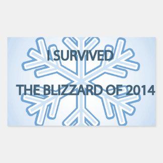 I survived the blizzard of 2014 snowflake rectangular sticker