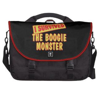 I SURVIVED THE BOOGIE MONSTER LAPTOP MESSENGER BAG
