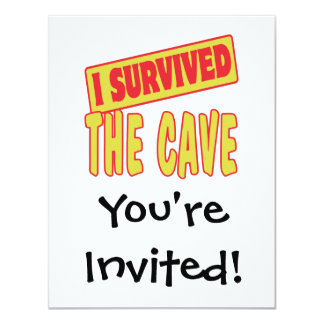 I SURVIVED THE CAVE CARD