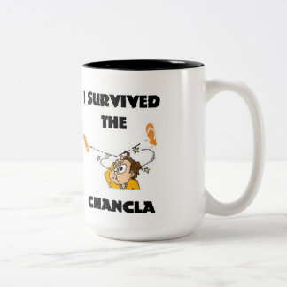 I Survived the Chancla Two-Tone Coffee Mug