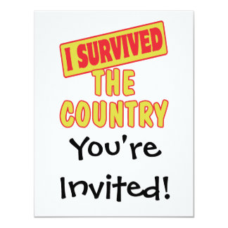 I SURVIVED THE COUNTRY 4.25X5.5 PAPER INVITATION CARD