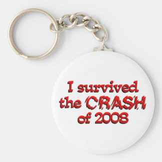 I Survived The Crash of 08 Key Chain