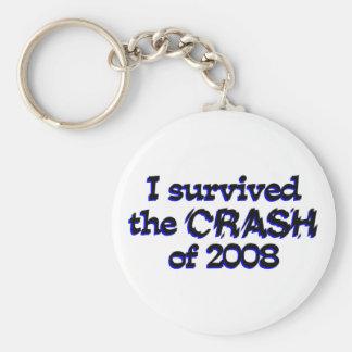 I Survived The Crash Of 2008 Keychains