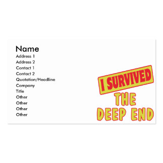 I SURVIVED THE DEEP END BUSINESS CARDS