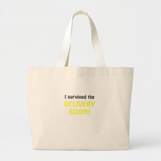 I Survived the Delivery Room Canvas Bags