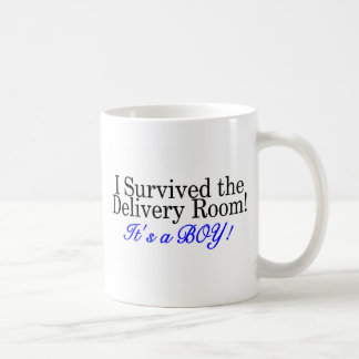 I Survived The Delivery Room Its A Boy Coffee Mug
