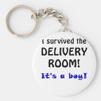 I Survived the Delivery Room Its a Boy Key Chains