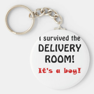 I Survived the Delivery Room Its a Boy Keychains