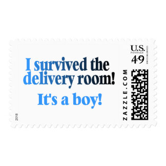 I Survived The Delivery Room Its A Boy Postage Stamp