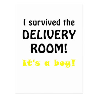 I Survived the Delivery Room Its a Boy Postcard