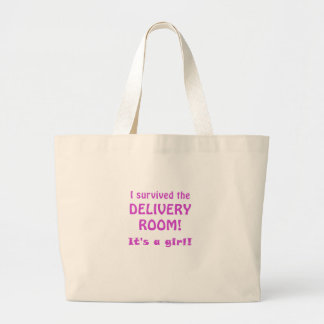 I Survived the Delivery Room Its a Girl Canvas Bags