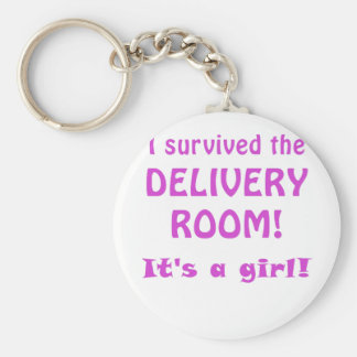 I Survived the Delivery Room Its a Girl Key Chain
