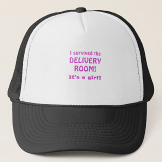 I Survived the Delivery Room Its a Girl Trucker Hat