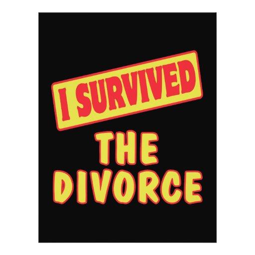 """I SURVIVED THE DIVORCE 8.5"""" X 11"""" FLYER"""