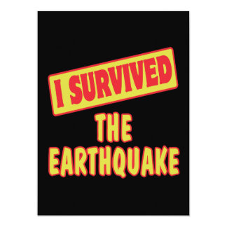 I SURVIVED THE EARTHQUAKE PERSONALIZED ANNOUNCEMENTS