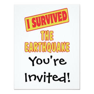 I SURVIVED THE EARTHQUAKE INVITES