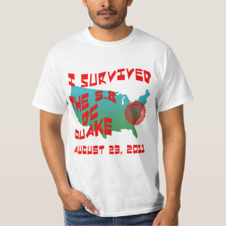 I Survived the East Coast Quake Tshirts
