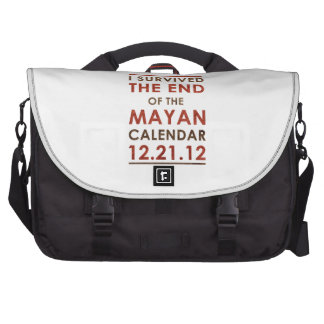 I Survived the end of the Mayan Calendar 12 21 12 Bags For Laptop