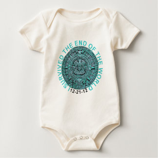 I Survived the End of the World 12-21-12 Funny T Baby Bodysuit